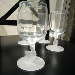 Wine Glasses with Swan-Shaped Stems (set of 4)