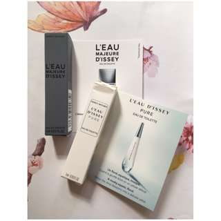 issey miyake Eau Detoilette Leau Majeure Dissey and Leau Dissey Pure香水 1ml