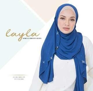 Layla Naelofar shawl ( readystock )