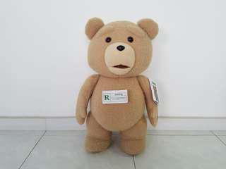 """Talking Ted Bear 24"""" Plush with Sound 12 phrases"""