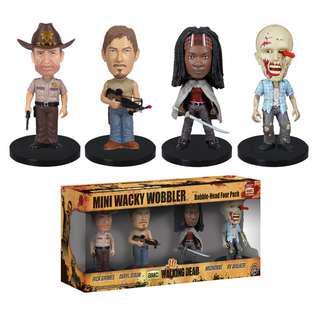 """The Walking Dead 3"""" Mini-Bobble Head Figure Collection: Mini-Wacky Wobbler Series ~ Funko"""