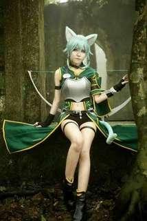 Sword Art Online SINON ALO ver. Cosplay Costume
