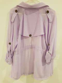 Lilac Light Overcoat
