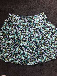 Forever 21 floral skirt small