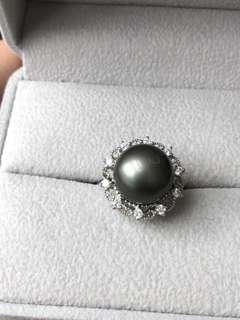 12.4mm 黑珍珠完美無暇