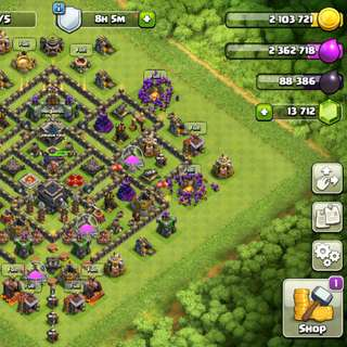 MAXED TH9 WITH 13,712 Gems (Clash Of Clans)