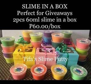 Slime in a Box 60ml-2pcs