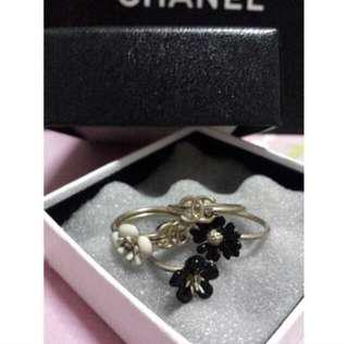 Chanel Stack Rings (Black & Ivory)