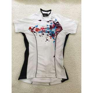 二手 GSG 白色女性自行車衣