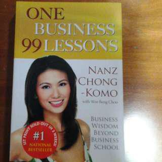One Business 99 Lessons By Nanz Chong Komo