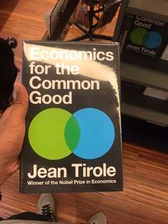 Economics for the Common Good - Jean Tirole #kanopixcarousell