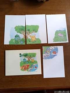 日本漫畫比卡超明信片一套
