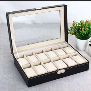 有鎖🔑12格手錶/飾物收藏盒