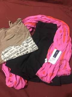 Gap Scarf, Blouse, Skirt - BUNDLE