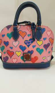 NWT Dooney & Bourke Bitsy Pink Hearts Crossbody