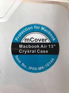 Macbook air 13in crystal case