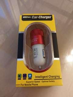 包郵 USB Car Charger Fast Speed Charging 快速車充 兩個USB口
