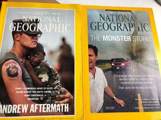 National geographic magazines 1993&2013