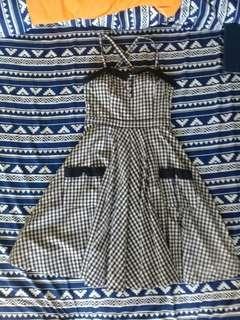Midi Plaid Dress