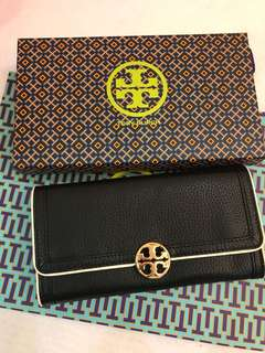 Original Tory Burch women leather wallet Fleming