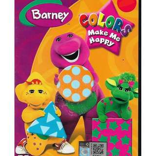 BARNEY Colors Make Me Happy Cartoon DVD