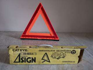 Cat Eye Warning Triangle