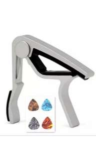 Guitar capo and FREE 4 picks