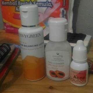 Envygreen Skin Balancing Lotion/Envygreen Acne solution/Envygreen Face Cleanser