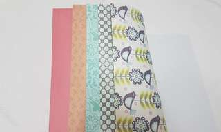 Scrapbook Papers (A pad of 14 pcs)