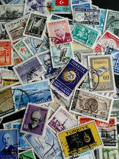 Lots of Turkiye vintage stamps