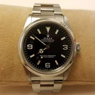 Rolex Explorer 1 14270 U series 勞力士探險者U頭(1997年) T25 dial