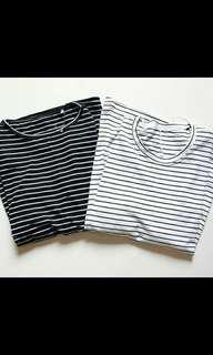 Baju stripe black
