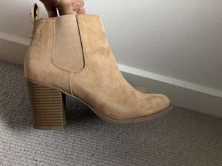 Target tan suede ankle boots size 7