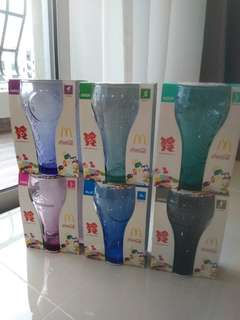 McDonald's World Cup 2012 Collectible Glass Cups - Complete Set