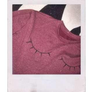 Sweater Crop Top Red