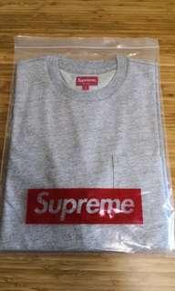 supreme pocket tee size L 灰色