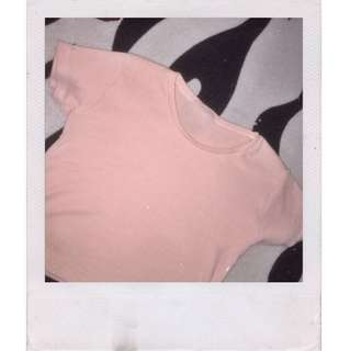 FITTED CROP TOP SHIRT PINK