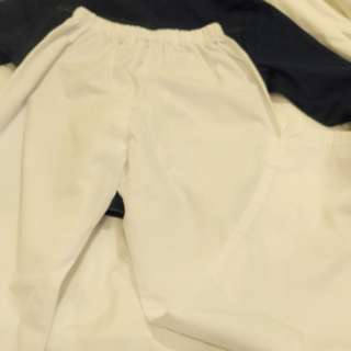 white terno long (sleve & pants)