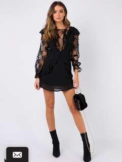 Sorcerers apprentice mini dress size 8 black long sleeve