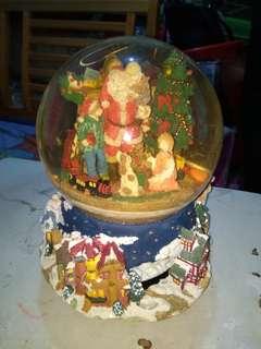 聖誕 老人 音樂水晶球
