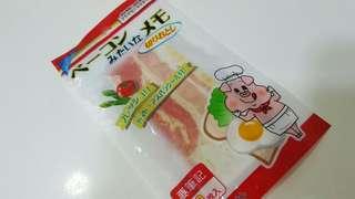 可愛Memo紙 扮煙肉