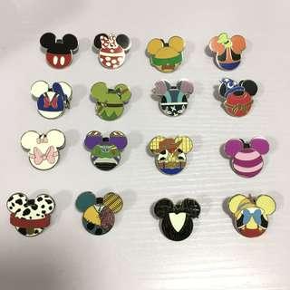 迪士尼襟章人物米奇頭隨機pins 一套16個