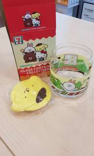 🚚 Sanrio Characters pompompurin container from 711 7-11