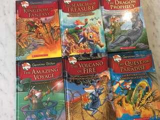 6 Geronimo Stilton Hard Cover Books