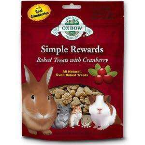 🚚 Oxbow Simple Rewards Baked Treats with Cranberry