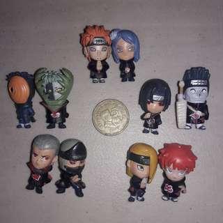Naruto Akatsuki Figures Set