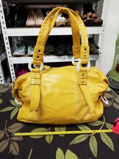 Preloved Women's Shoulder Bag Yellow