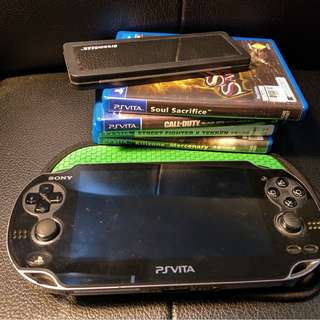 Ps Vita Fat (3g ver) + Games, Accessories