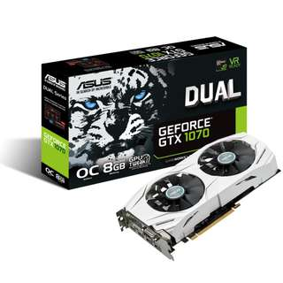 ASUS GeForce GTX 1070 DUAL-GTX1070-O8G 8GB