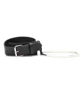 Vetements Leather ring belt